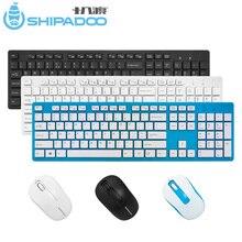 W1060 2.4Ghz Tastiera Senza Fili Del Mouse Sottile Ergonomica Multimedia Keyboard 104 Tasti USB Ricevitore 10M Gamma per Desktop/ del computer portatile
