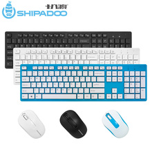 W1060 2.4Ghz Wireless Keyboard Mouse Slim Ergonomic Multimedia Keyboard 104 Keys USB Receiver 10M Range for Desktop/ Laptop
