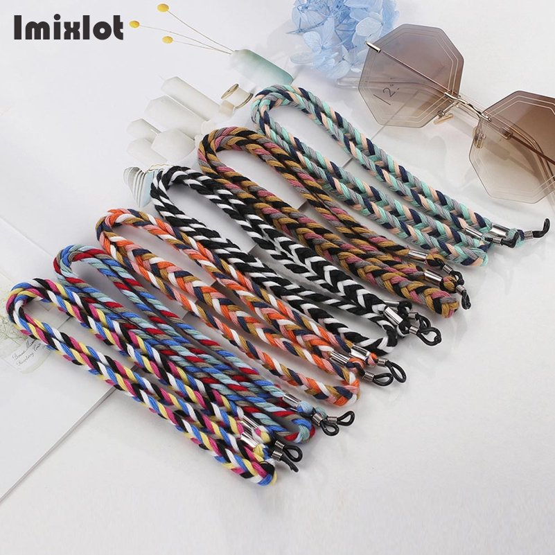 1PC Retro Braided Sunglasses Lanyard Strap Thick Eyeglass Glasses Chain Cord Holder Spectacles Reading Glasses Ropes For Men