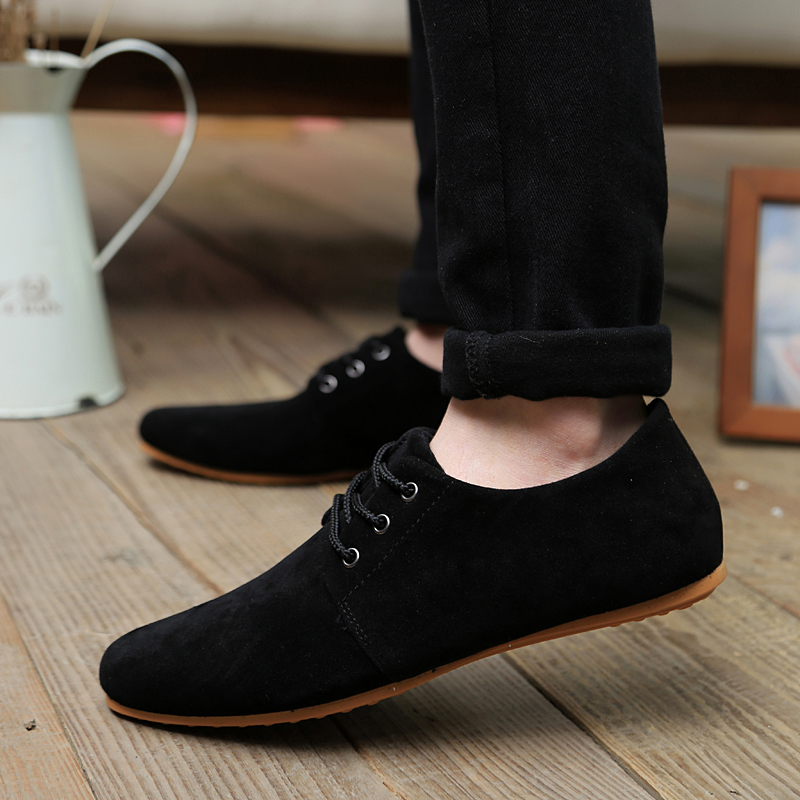 2017 Hot Sale Spring Autumn Fashion Men Shoes Mens Flats Casual Suede Shoes Comfortable Breathable Flats Driving Loafers maden brand 2017 spring autumn designer fashion mens casual shoes lace up comfortable suede driving shoes breathable male shoes