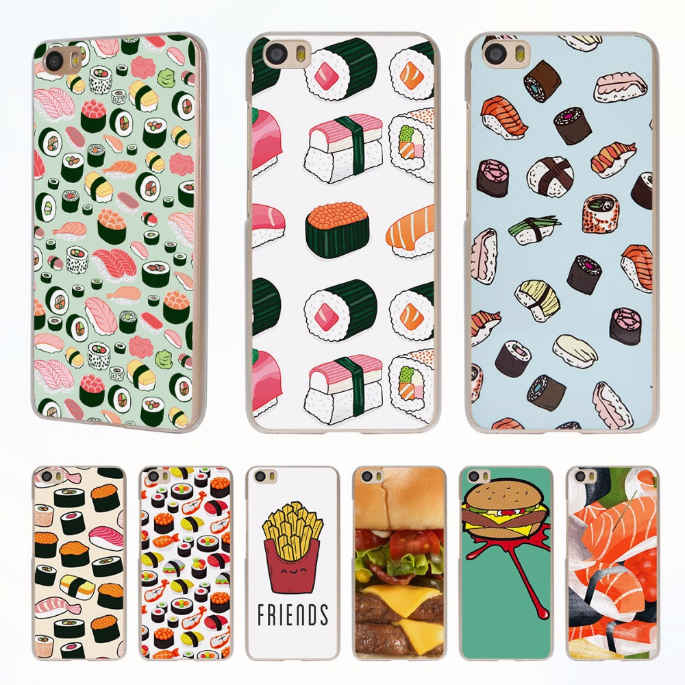 Japanese Sushi vs Hamburger style clear phone shell Case for Xiaomi Redmi Note 3 Note4 3 3s 4 4A Xiaomi Mi 4 5 5s