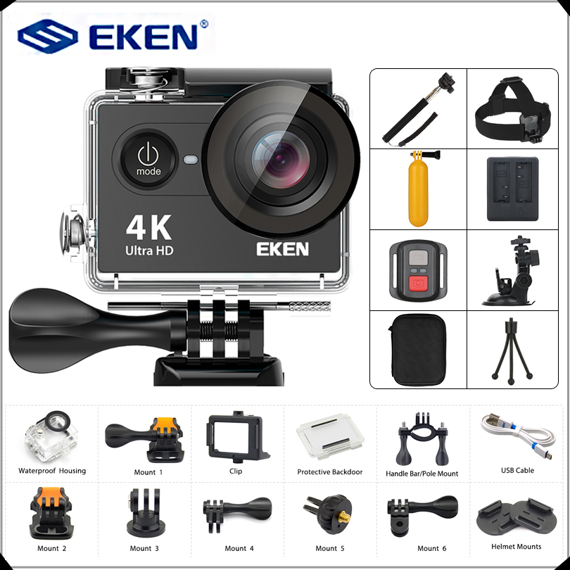 EKEN H9 H9R Action camera Ultra HD 4K / 25fps WiFi 2.0