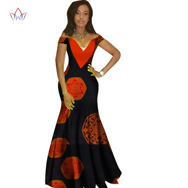 2018 African Dresses For Women Fashion Design Dashiki Women Bazin