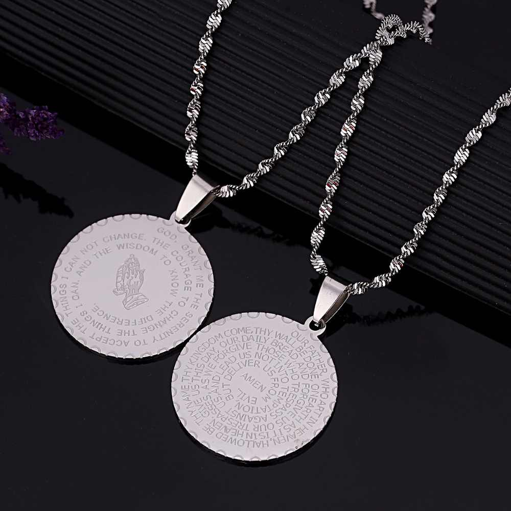 Ayat alkitab Doa Perhiasan Warna Emas Perhiasan Coin Medal Kristen Doa Berdoa Tangan Perhiasan