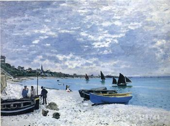 Canvas paintings The Beach at Sainte Adresse Claude Monet artwork Hand painted High quality