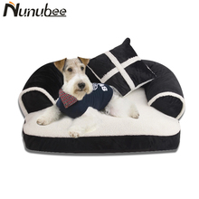 Nunubee 2 pieces Washable small dog bed house set pet cat Princess sofa Bed kennel for Large Dogs Pet Supplies (Pet bed+pillow)