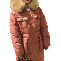 Winter Coat Women Styled Solid Thicken Warm Big Colorful fur Collar Coat Long Cotton Outwear Down Jacket Over size Coat