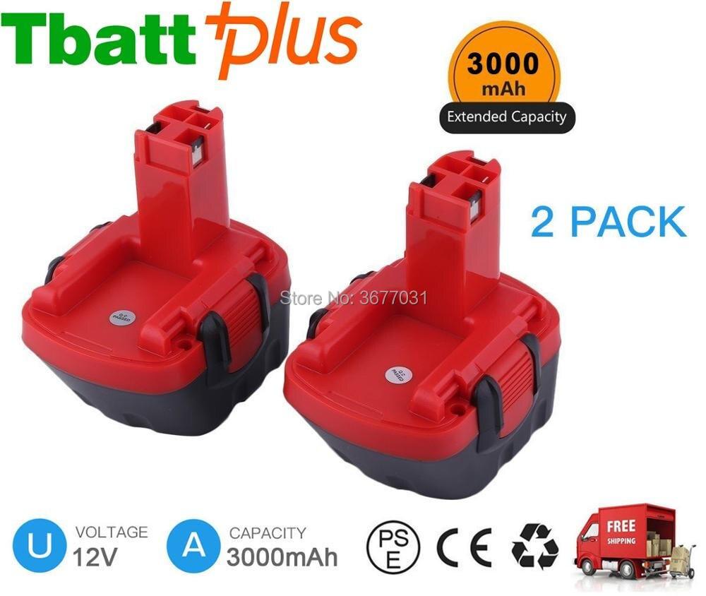 12V 3.0AH Ni-MH Battery For Bosch BAT043 BAT045 BAT120 32612 GSR 12-13360