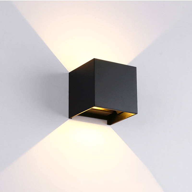 ФОТО Wall Light Sconces Jentinsun 6W LED Modern Aluminum Waterproof Mounted Lamp With Adjustable Beam Angle Design Lighting (Black)