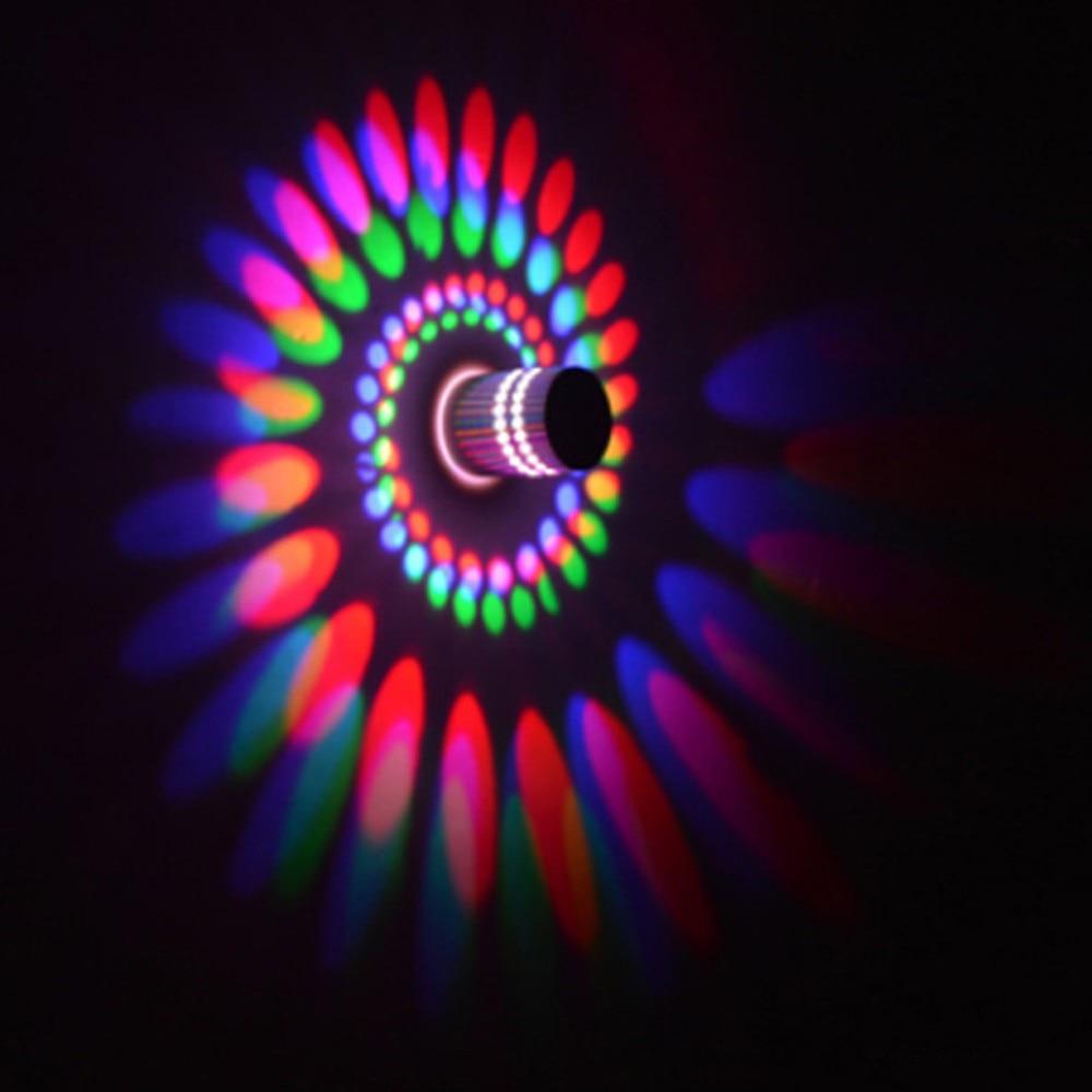 Typo Led Wall Light: 110V/220V 3W Colro Led Modern Wall Light Spiral Light LED