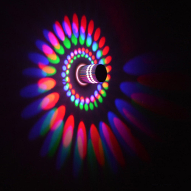 led wall light wall lamp spiral effect lights with controller 110v