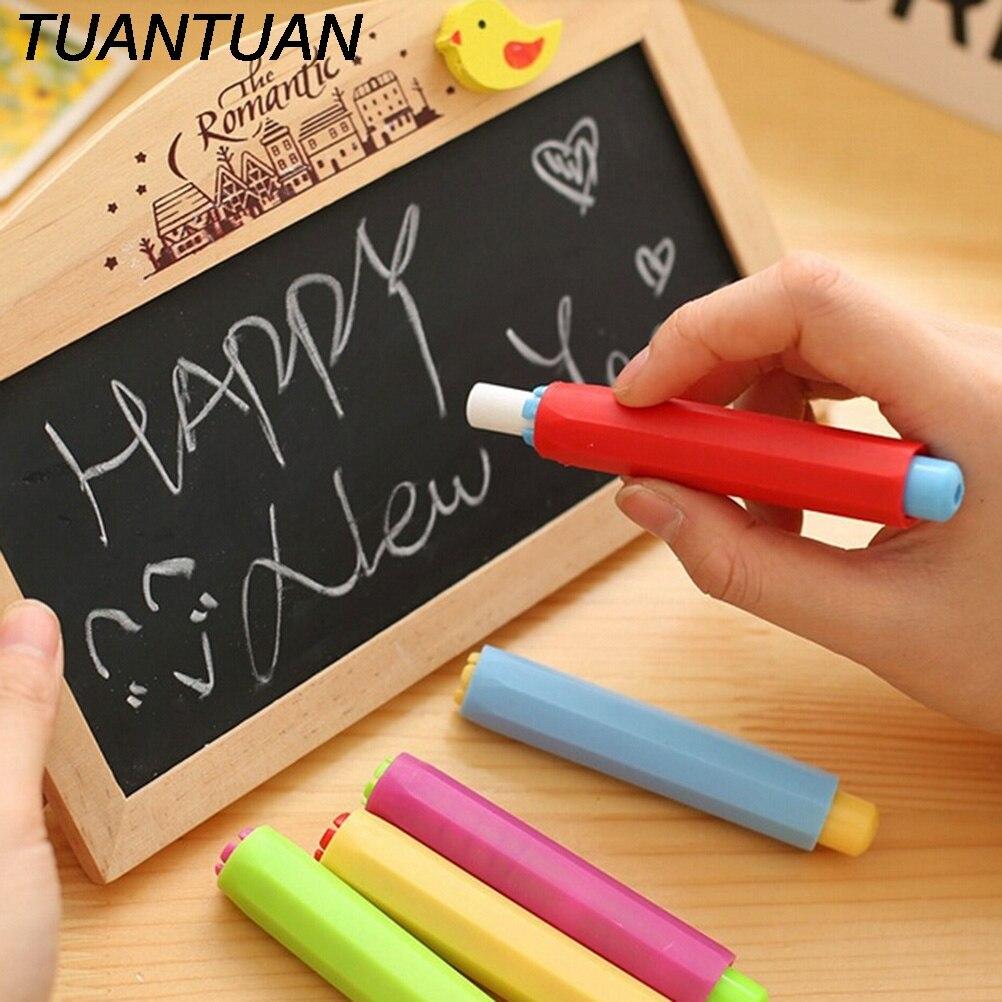 Chalk Gentle Peerless 5pcs Pen Chalk Clip Wall Sticker For Teacher Porta Tiza On Blackboard Chalkboard Dustless Chalk Holder