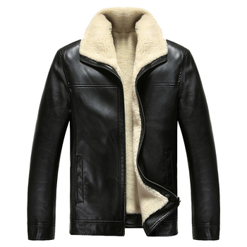 2017 New Men PU Leather Fur Coats Fashion Hip Hop Warm Snow -20 Degree Motorcycle Formal Jackets E0708-002
