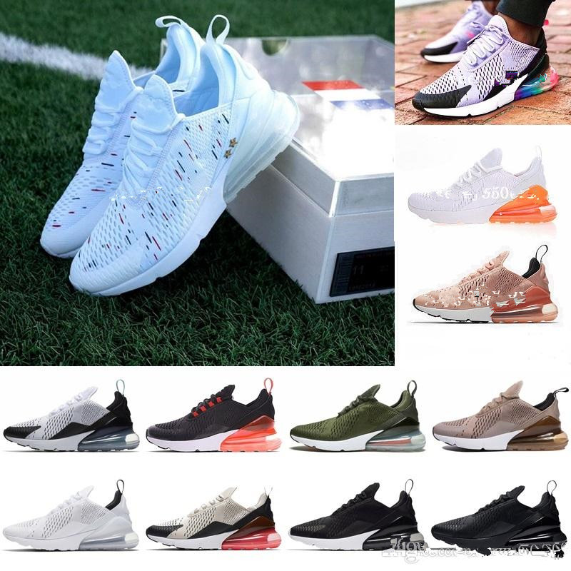 9f7ccfcee387 Online Shop New French champion Air 270 Men Shoes Max Black White Cushion  Triple Mens Sneakers Fashion air Athletics Trainers Running Shoes