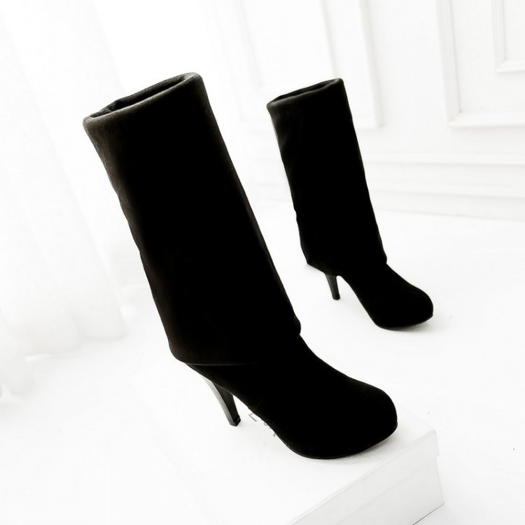 2017 Botas Mujer Big Size 34-43brand Design Patch Color Over The Knee Boots Thick Sole Platform Slim Long Winter Autumn 5818