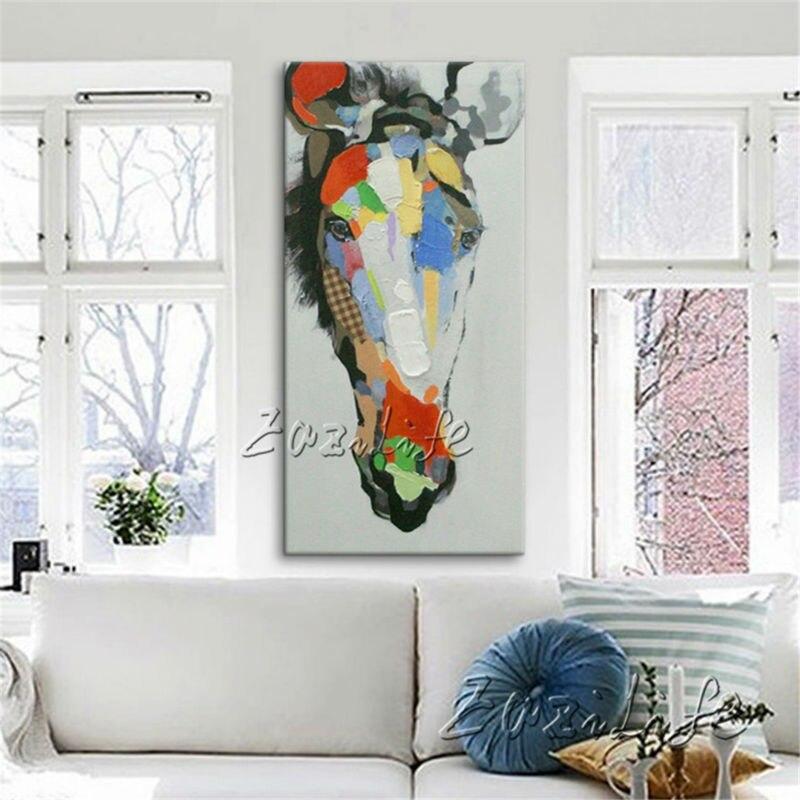 Kůň ručně malované Olejomalba na plátně Nástěnné umělecké obrazy Obrazy pro obývací pokoj Cuadros Dekorace Pop art moderní abstrakt