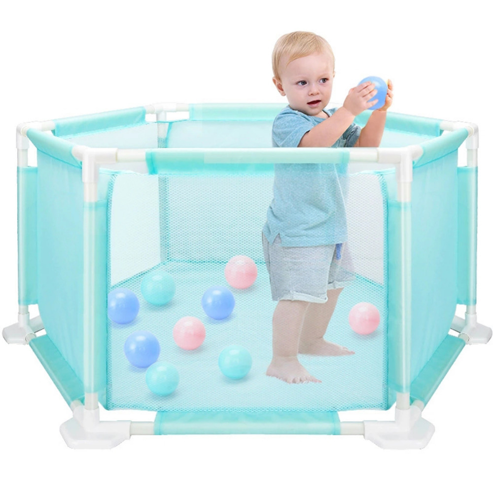 Baby Playpen Portable Plastic Kids Safety Play Center Yard Home Indoor Outdoor Pen Fence Security Ball Pool Barriers цены онлайн