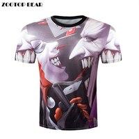 Top 2017 Quality Halloween Men Brand Clothing Short Sleeve T Shirt Skulls Print 3D T Shirt