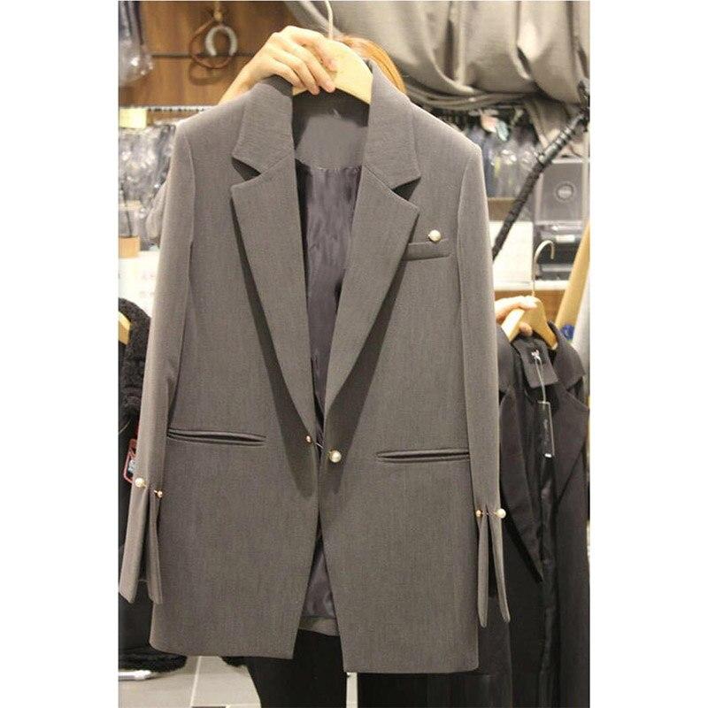 Coréenne Zippée Gray 1 Version Mince Loisirs 2019 D'extérieur Affaires Dames Blaser Nouvelle Mode Cardigan Femme Veste Manteaux D'été 8vRqT7
