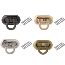 THINKTHENDO New Metal Clasp Turn Lock Twist Lock for DIY Handbag Craft Bag Purse Hardware