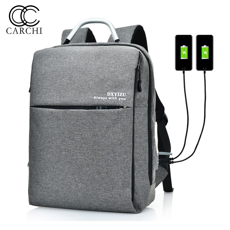 CARCHI NEW Double USB Charge Backpack Men Oxford Bags Laptop Backpacks for Men Women School Backpack Bag Casual Travel Backpack psycho pass backpack black oxford men laptop bags 14inch bookbag for high school backpacks