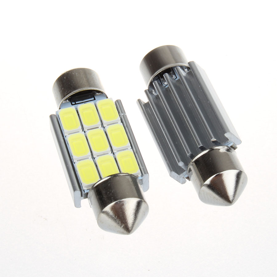 Super Bright 9 LED 5630 5730 SMD Festoon C5W CANBUS Auto Car Dome Door License plate Map Light Bulb 12V 36/39/42mm h7 5630 33smd h7 led high power led smd 5630 car auto led bulb light 33led 33 smd super bright white yellow 12v sp10cep