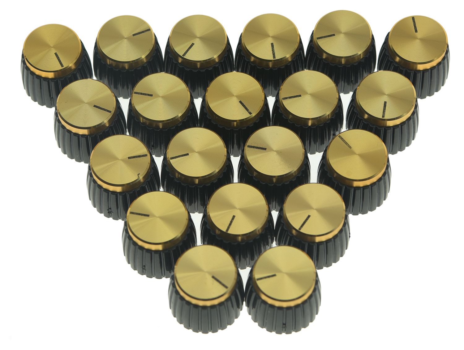 Guitar Effects Pedal Stompbox Control Knobs Set of 3 Gold Marshall Amp