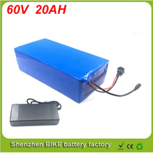 60V 20AH Lithium Battery Electric Bicycle font b Scooter b font 60V 500W 1000W 1800W Battery