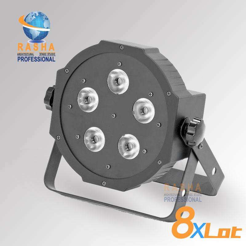 ФОТО 8X Factory Direct Sale Rasha HexV5-5*18W 6in1 RGBAW UV LEDQuad Mega Par Light, High Brightness LED Par Can For Disco Stage Event
