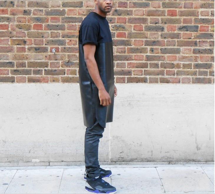 Long extended Tshirt Men Dress Loose Extra Long Men Extended Shirt Hip Hop Mens  Tees Rock Longline T Shirts Summer Clothing rock-in T-Shirts from Men s ... f16f42fb8e1