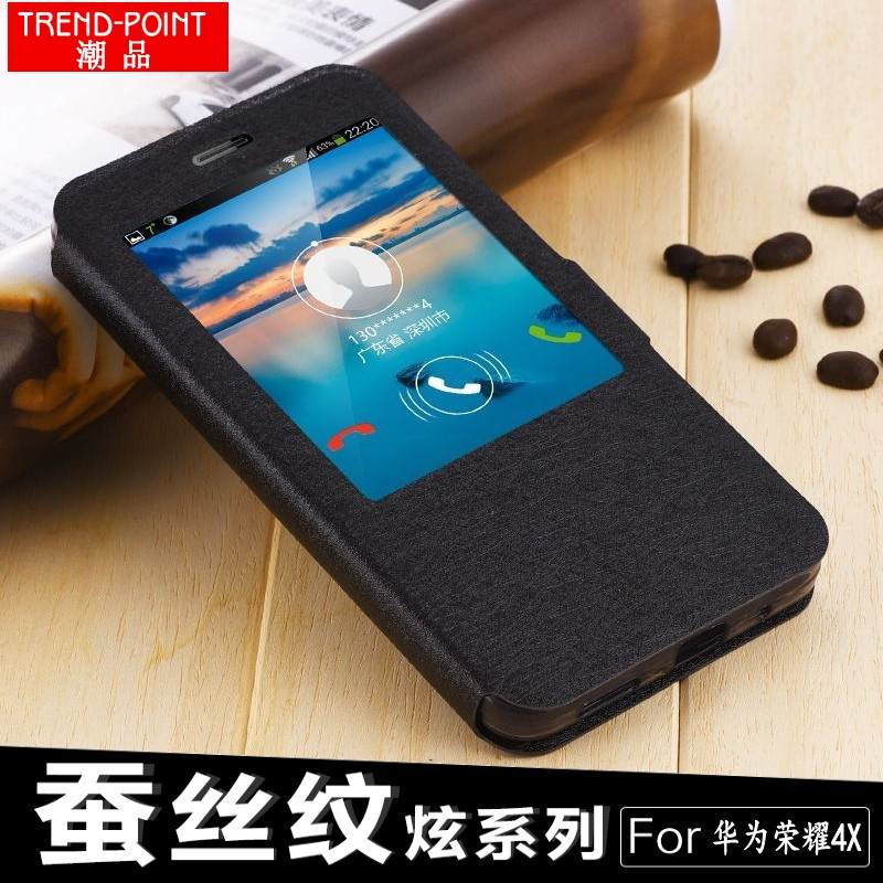 Flip Leather Case For Huawei Honor 4X case cover PU Leather Stand Case Cover For Huawei Honor 4x phone bags+Free Shipping