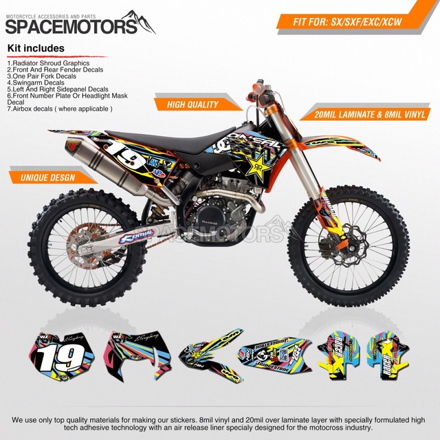 Background graphics wrap decal for exc sx sx f w xc w f freeride