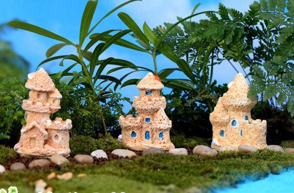 Aliexpresscom Buy 3pcs Mini Sand Castle Miniature Dollhouse