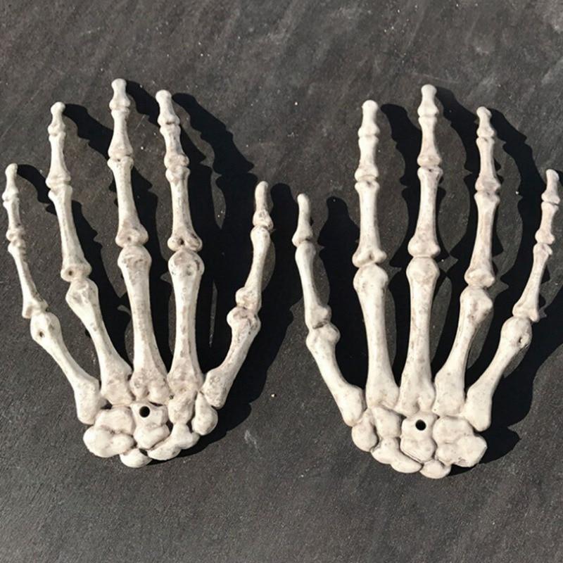Halloween Party Hand Bone Decoration Plastic Skeleton Decorations Haunted Toy