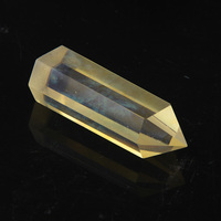 2015 Artificial melting Citrine yellow QUARTZ CRYSTAL column Sceptre POINTS HEALING 72*20mm Wholesales Free Shipping 1#