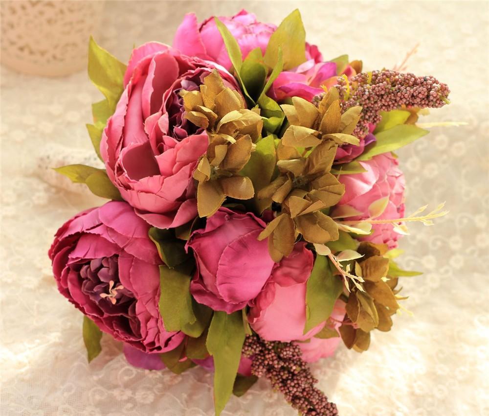 Artificial flower Wedding Bouquet Bouquet Bridal Bouquet Bridesmaid Wedding Decoration Event Party Supplies buques de noivas (6)