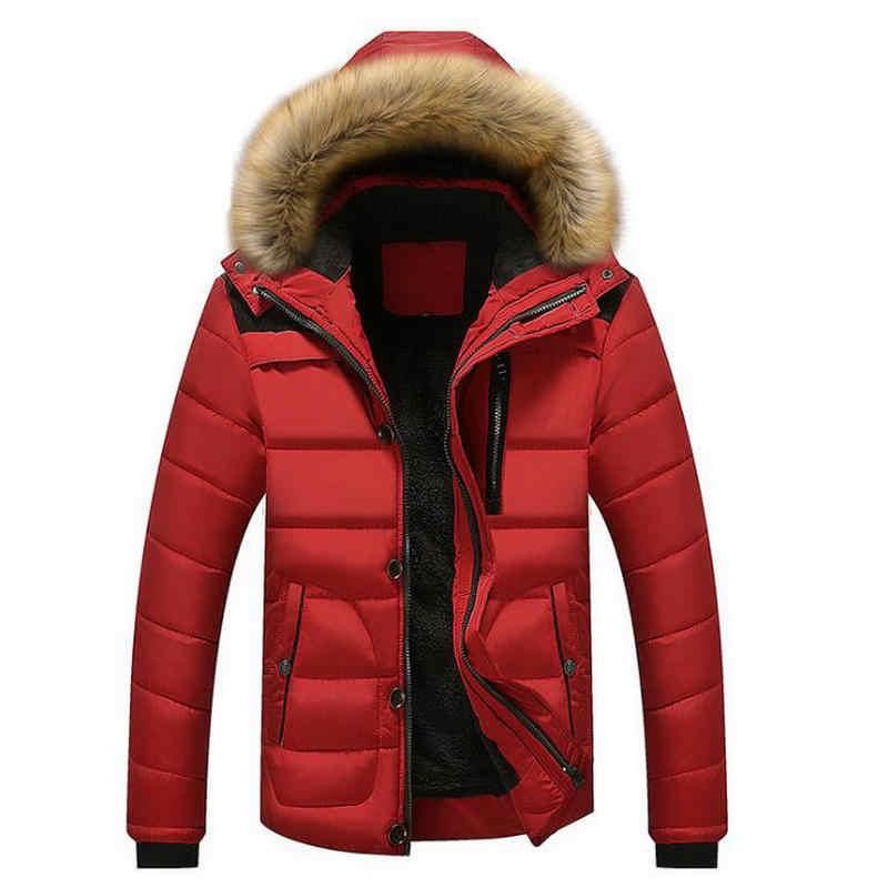 2019 новый стиль зимние куртки мужские пальто мужские парки Повседневная плотная верхняя одежда с капюшоном флисовые куртки теплые пальто мужская одежда