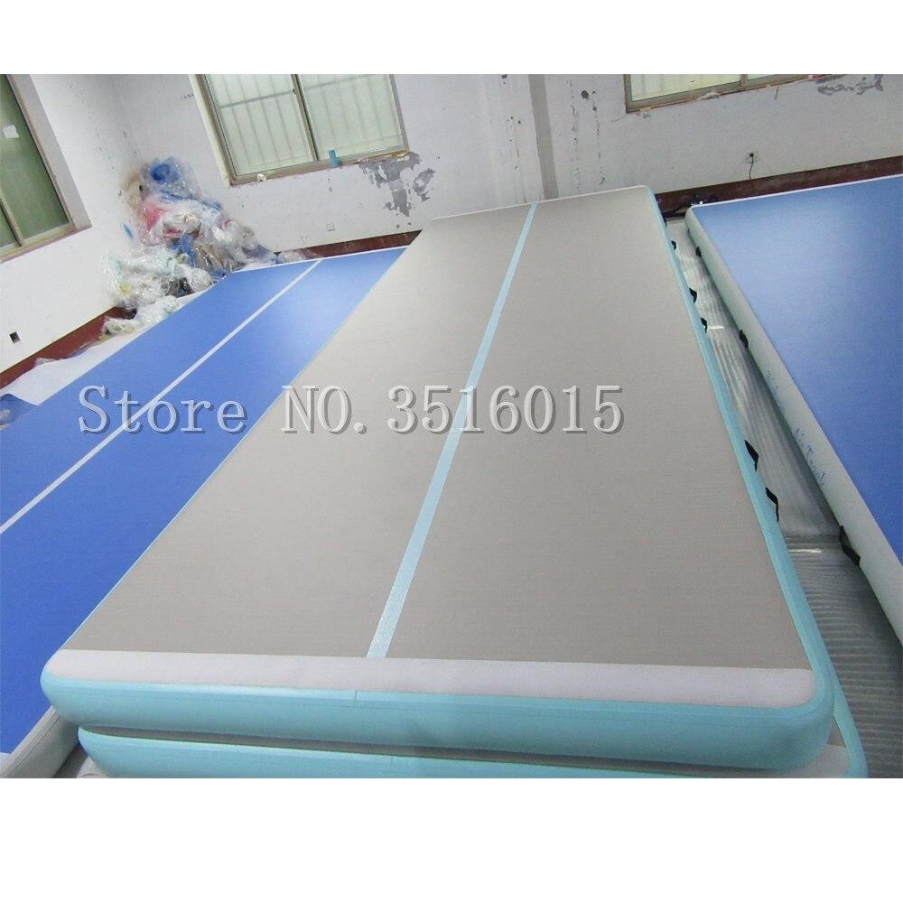 Livraison gratuite 6*1*0.2 m tapis de sol gonflable pour tapis de gymnastique Airtrack avec pompe à Air électrique