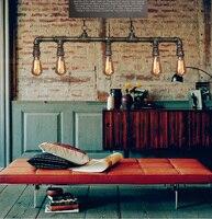 Винтаж Лофт персонализированные водопровод подвесной светильник EDISON ЛАМПЫ Декоративные светильники барная стойка приспособление Освещен