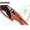Ladies Black Fishnet Tights Panty Hose Sexy Fishnet Pantyhose Stockings for Women Collant Thigh High Sexy Stockings QQ130#32