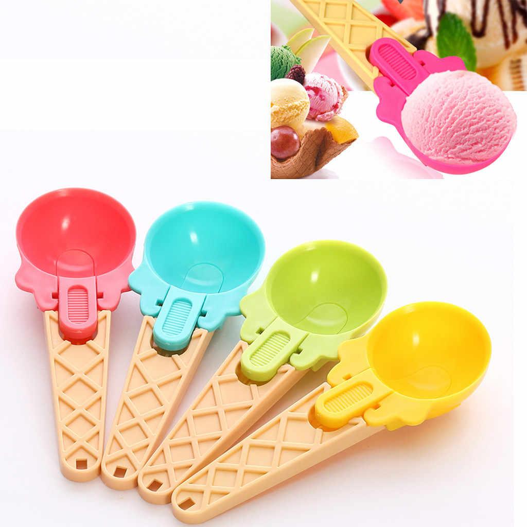 Creative Plastic Ice Cream Scoop Fruit Ice Ball Maker Stacks Spoon Kitchen Tools moldes de silicona para manualidades 3d hot