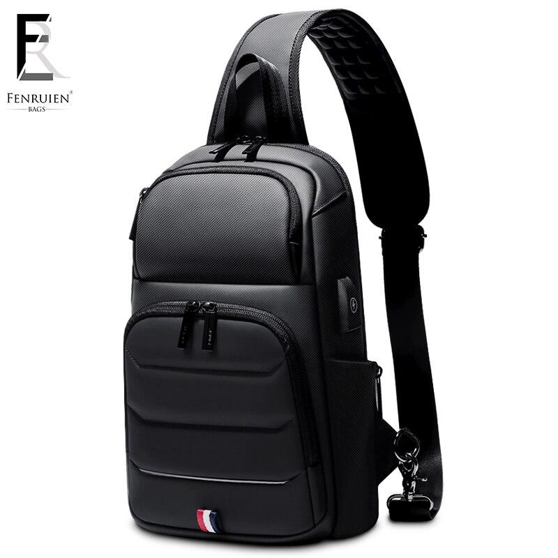 FRN new Crossbody Shoulder Bag for Men Sling Bag Usb Charging Short Trip Casual Messenger Bags