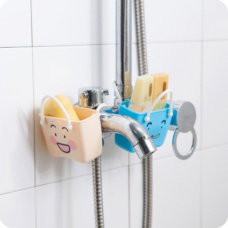 1pc Cute Hanging Drain Bag Holder Gadget Rack Basket Toilet Shower ...