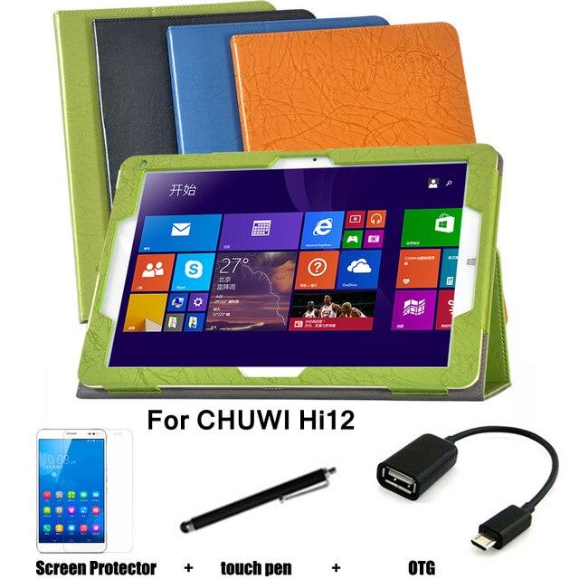 Для CHUWI Hi12 защитный кожаный чехол защитной оболочки / кожи для CHUWI Hi12 планшет пк покоя чехол 12 ''