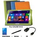 Para CHUWI Hi12 estojo de couro de proteção de proteção Shell / pele para CHUWI Hi12 Tablet PC dormência caso 12 ''