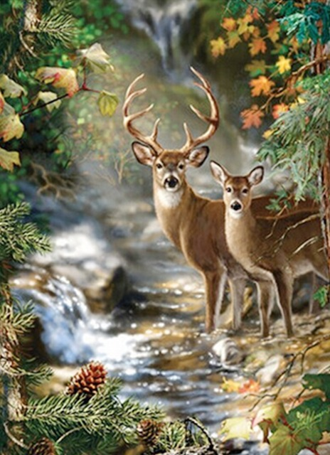 Free Shipping New 3d Diy Diamond Painting Deer Forest