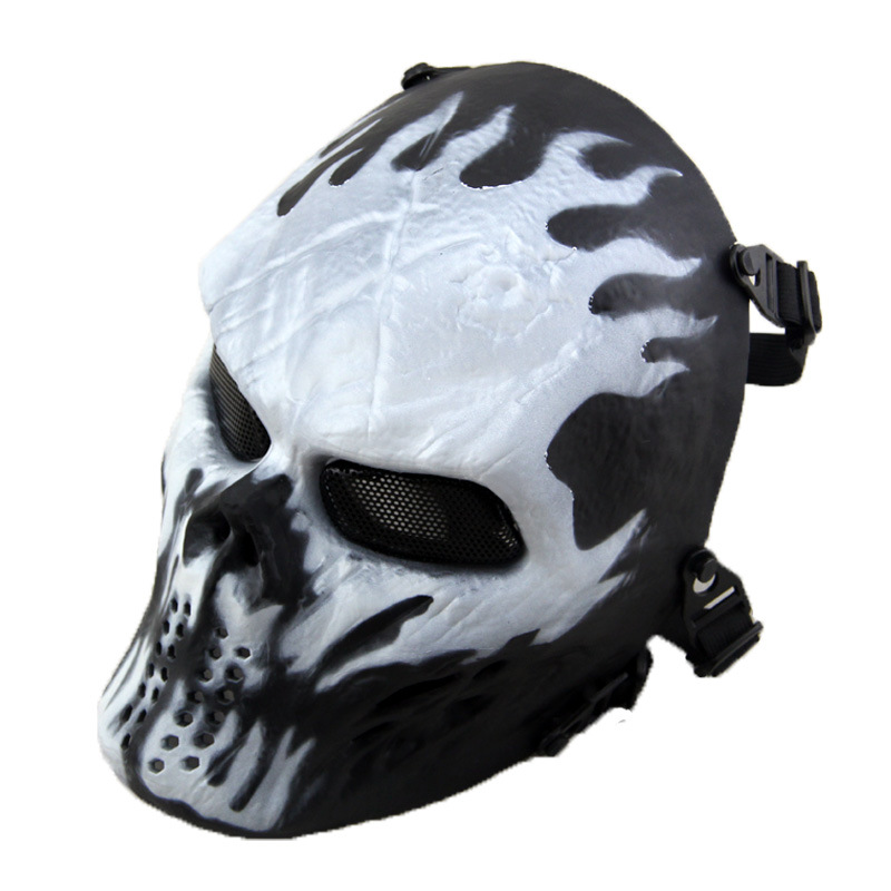 buy ghost camouflage tactical cs masks outdoor military wargame balaclava airsoft protection full face skull mask halloween party from