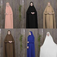 5c647f7be3f8 Prayer Clothing Black Kaftan With Hijab Robes Arabian Women Islamic  Clothing Muslim Abaya Bat Robes. US $39.92 US $28.34. Oração Preto Roupa  Mulheres ...