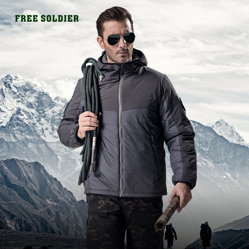 FREE SOLDIER outdoor sports tactical military jacket winter men's cloth outerwear coat for camping hiking x400 outdoor sports tactical windproof goggles black