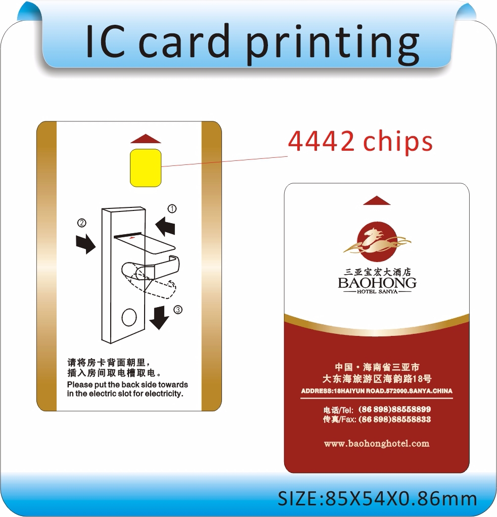 100pcs Printing SLE-4442 Chips Non-Contact IC Card, Contactless IC Card, Hotel Door Card,